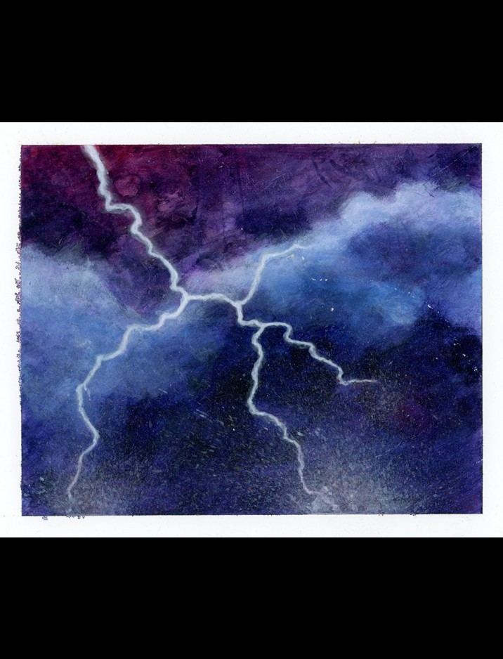 "Legends ""Chain Lightning"" Original Artwork by Sandra Everingham"