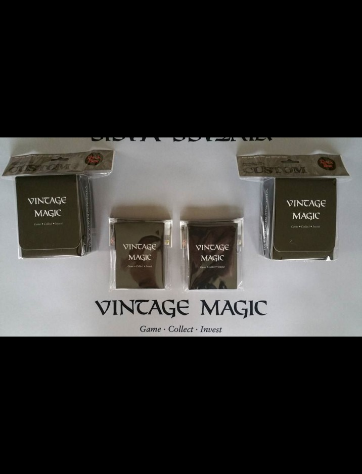 2 x Vintage Magic Deck Box & Sleeves Pack (50 Ct.) Bundle