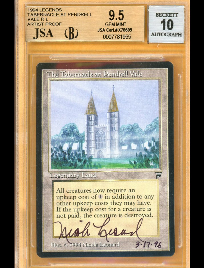 BGS/JSA 9.5/10 MTG Legends The Tabernacle at Pendrell Vale {Artist Proof} signed by Nicola Leonard