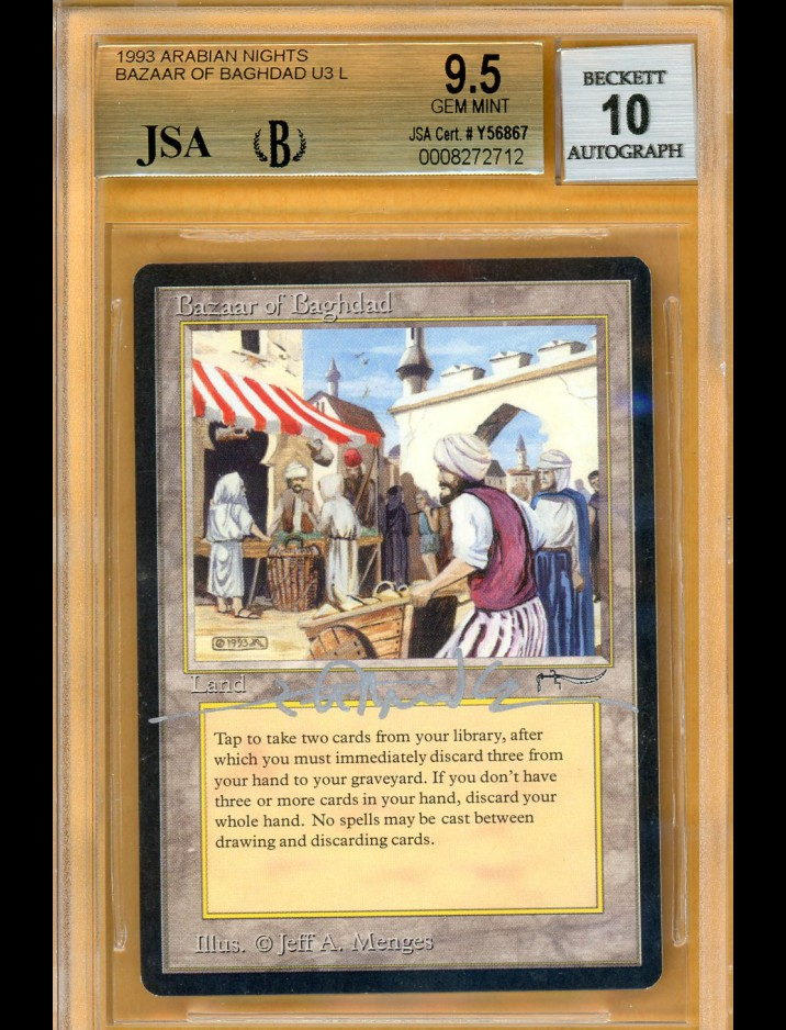 BGS/JSA 9.5/10 Arabian Nights Bazaar of Baghdad signed by Jeff Menges