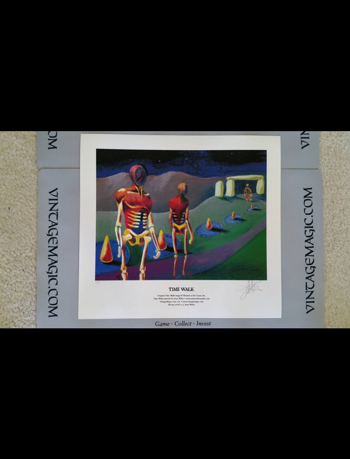 """Limited 1st Edition """"Time Walk"""" Giclee hand-numbered & signed {out of 50} by Amy Weber"""