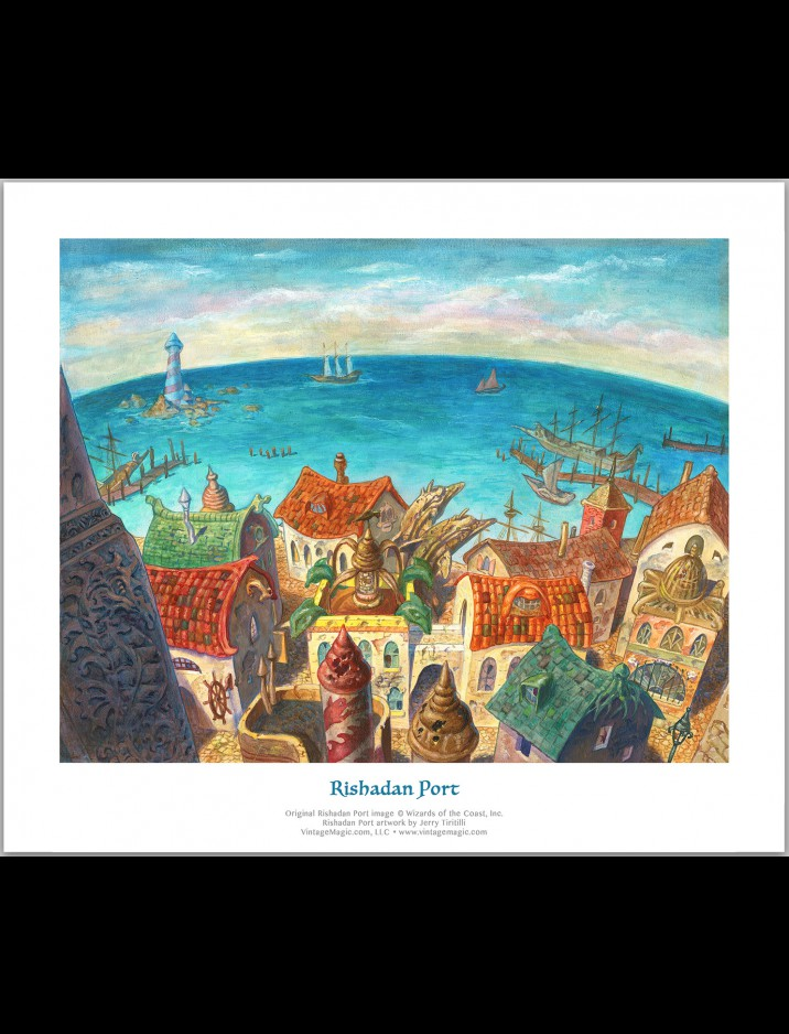 "Limited Edition ""Rishadan Port"" Giclee hand-numbered & signed {out of 50} by Jerry Tiritilli"