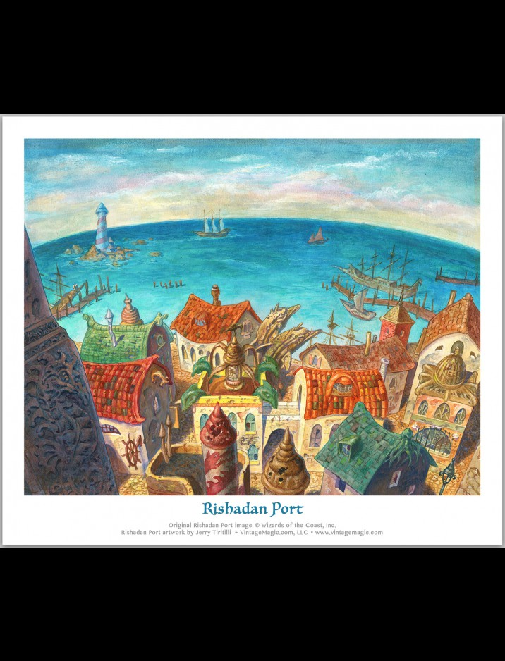 "Limited Edition ""Rishadan Port"" Giclee hand-numbered & signed {out of 2000} by Jerry Tiritilli"