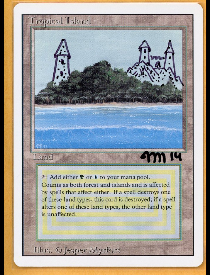Altered & Signed 3rd Edition/Revised Tropical Island