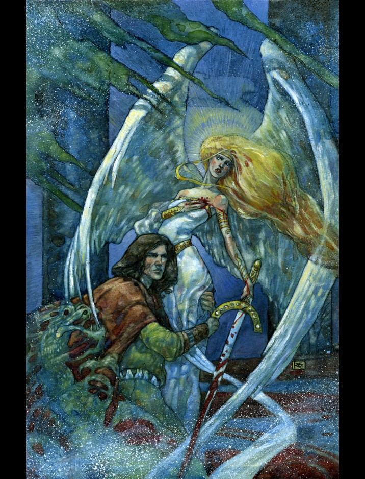 """Serra Angel"" Comic Book Cover Original Artwork by Rebecca Guay"