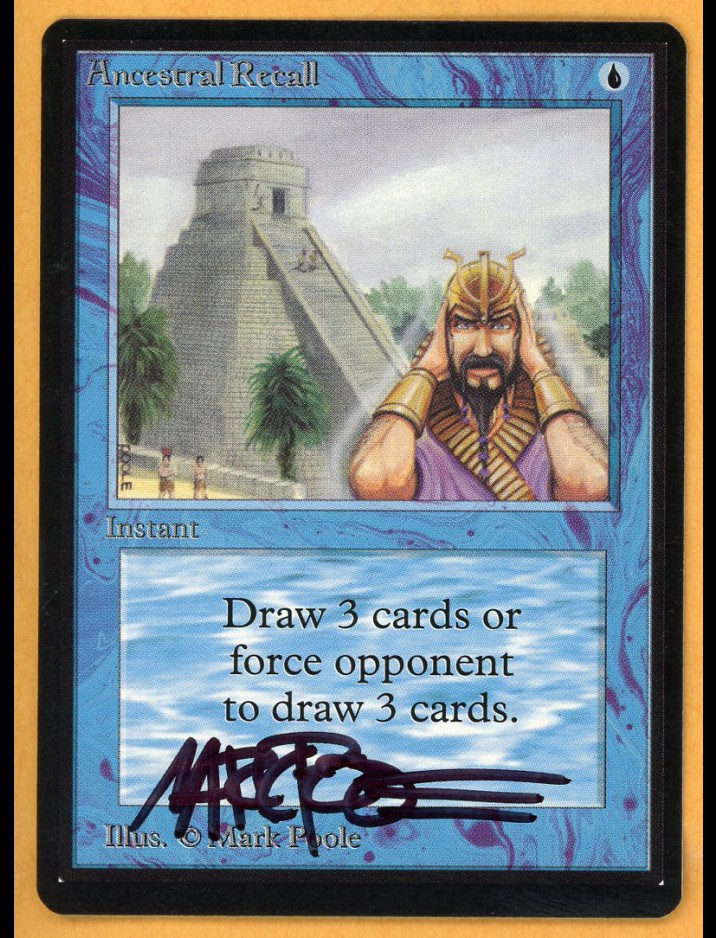 Signed Beta Ancestral Recall by Mark Poole