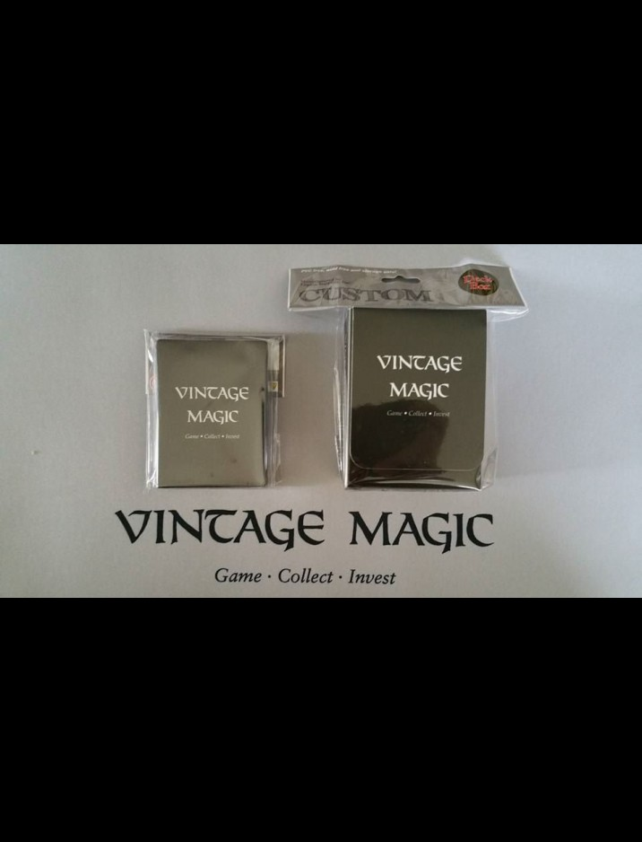 1 x Vintage Magic Deck Box & Sleeves Pack (50 Ct.) Bundle
