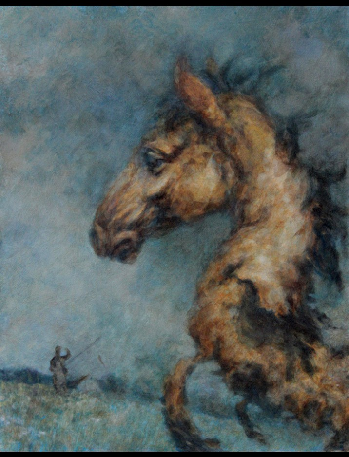 """The Night Horse"" Original Artwork by Drew Tucker"