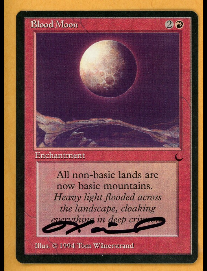 Signed The Dark Blood Moon