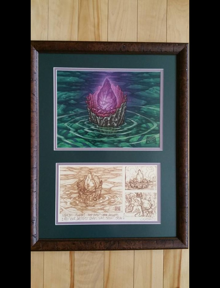 """Thorn of Amethyst"" Original Artwork by Chuck Lukacs 