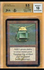 BGS/JSA 9.5/10 Alpha Mox Emerald signed by Dan Frazier