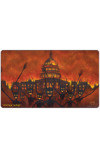 Demonic Hordes burns D.C. Capitol (2015) Playmat by Jesper Myrfors