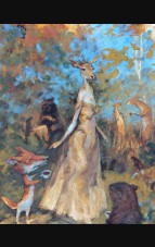 """The Deer Queen of Sutherland"" Original Artwork by Drew Tucker"